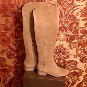 Lucky Brand Over the Knee Tan Suede Boot